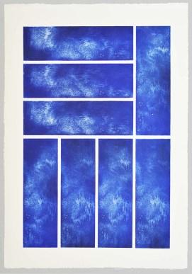 Octostyle sensible Serie Aithêr Gravure réalisée à partir d'une plaque de 12 x 38 cm - 8 impressions