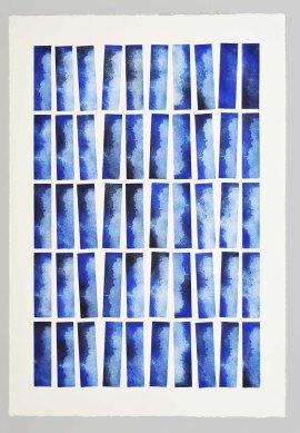 Celare se tenebris Série KEL Gravure réalisée à l'aide de 5 plaques de 4 x 15 cm 50 impressions