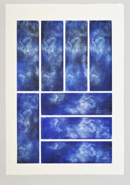 Aithalos Serie Aithêr Gravure réalisée à partir d'une plaque de 12 x 38 cm - 8 impressions