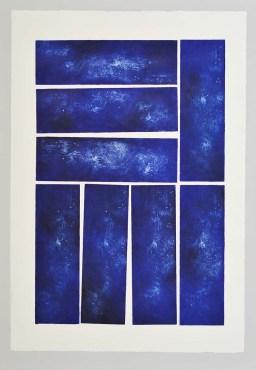 Contrepoint Serie Aithêr Gravure réalisée à partir d'une plaque de 12 x 38 cm - 8 impressions