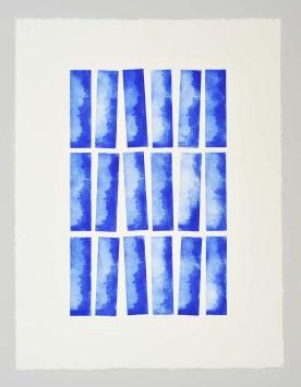 Horizon vertical Série KEL Gravure réalisée à l'aide de 5 plaques de 4 x 15 cm 18 impressions