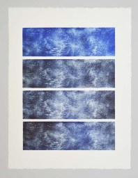 Effacement Serie Aithêr Gravure réalisée à partir d'une plaque de 12 x 38 cm - 4 impressions