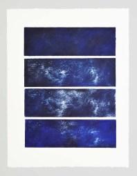Caelum Serie Aithêr Gravure réalisée à partir d'une plaque de 12 x 38 cm - 4 impressions