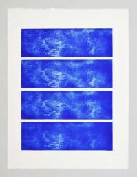 Ligne progressives entrelacées Serie Aithêr Gravure réalisée à partir d'une plaque de 12 x 38 cm - 4 impressions